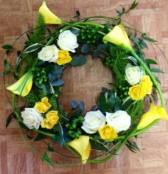 Calla & rose wreath