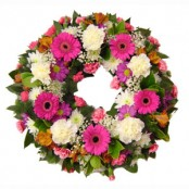 loose style funeral wreath